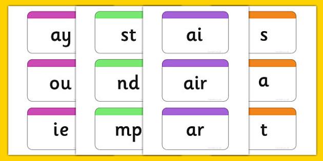 Phase 2-5 Phoneme Flashcards Pack - phase 2, phase 3, phase 4, phase 5, phoneme, flash cards, flashcards, pack, phonics, letters, sound, grapheme