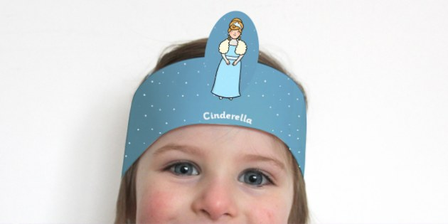 Cinderella Role Play Headbands - story books, traditional tales