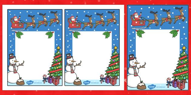 Note From Teacher Christmas Theme Editable  - christmas, notes