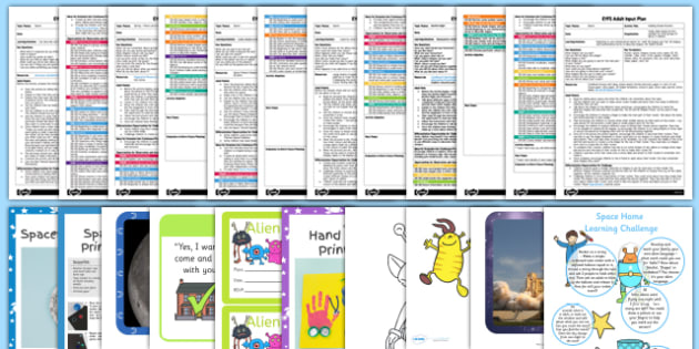 EYFS Space-Themed Adult Input Planning and Resource Pack