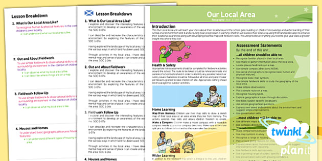 PlanIt - Geography KS1 - Our Local Area Planning Overview CfE