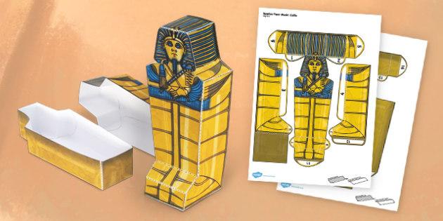 Egyptian Coffin Paper Model - coffin, egypt, paper model, paper