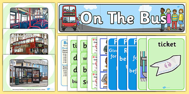 On the Bus Role Play Pack - transport, travel, roleplay, busses