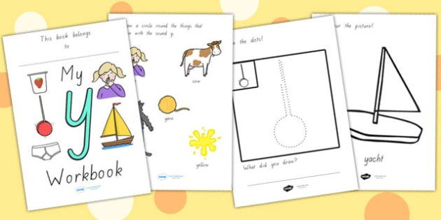 My Workbook Y Lowercase - letter formation, writing, tracing