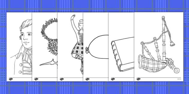 Burns Night Colouring Pages - burns night, colouring, colour