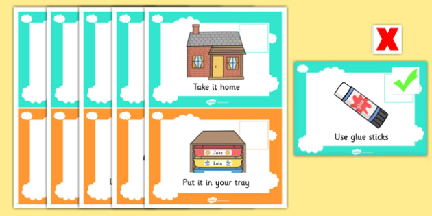 Teacher Control Panel Cards with Ticks and Crosses - Teacher Control Panel Cards, Ticks and Crosses, Control Panel Cards