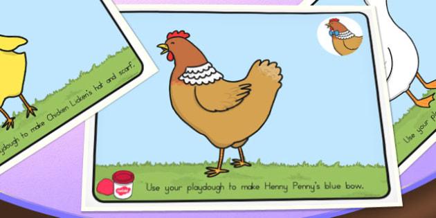 Chicken Licken Playdough Mats - australia, chicken licken, playdough mats