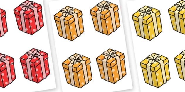 Presents Editable - presents, christmas, celebrations, display