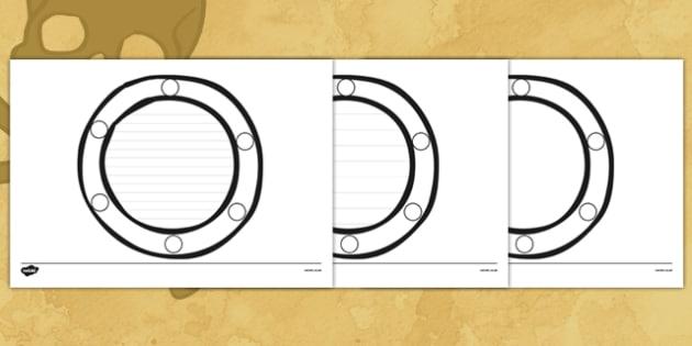 Porthole Shape Writing Frames - porthole, shape, writing frames, writing, frames, shape writing