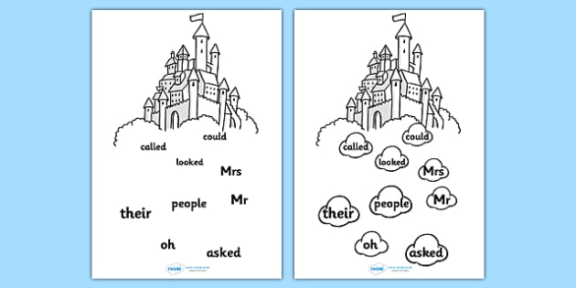Phase 5 Tricky Word Stepping Stone Colouring Activity Sheet - tracing letters, phonemes, handwriting, letter formation, writing practice, foundation, letters, writing, learning to write, DFES letters and sounds, Phase 2, Phase 3, Phase two, Phase thr