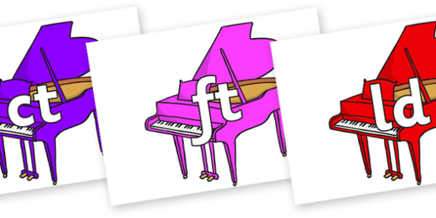 Final Letter Blends on Baby Grand Pianos - Final Letters, final letter, letter blend, letter blends, consonant, consonants, digraph, trigraph, literacy, alphabet, letters, foundation stage literacy
