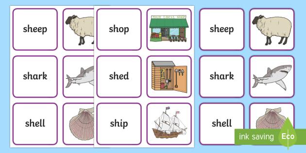 sh words - Phoneme Games SH Sound Primary Resources - Speech Language Therap