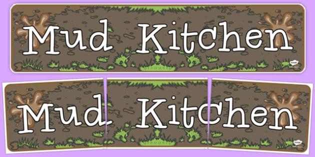 Mud Kitchen Display Banner - mud, kitchen, display banner, banner