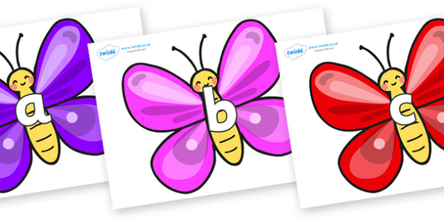 Phase 2 Phonemes on Butterflies - Phonemes, phoneme, Phase 2, Phase two, Foundation, Literacy, Letters and Sounds, DfES, display