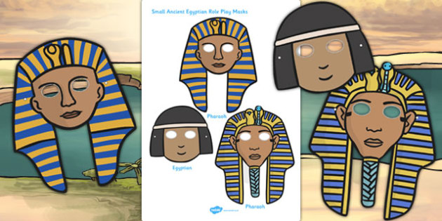 Ancient Egypt Small Role Play Masks - egypt, role-play, masks