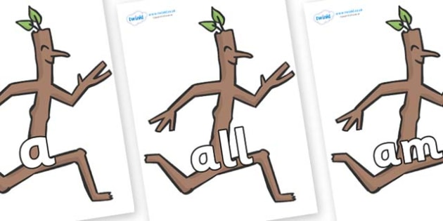 Foundation Stage 2 Keywords on Stick Man to Support Teaching on Stick Man - FS2, CLL, keywords, Communication language and literacy,  Display, Key words, high frequency words, foundation stage literacy, DfES Letters and Sounds, Letters and Sounds, sp