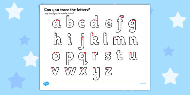 Letter Writing Worksheet Romanian Translation - english, writing, pd, fine motor skills, pen, pencil, letters, early years, ks1
