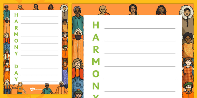Harmony Day Acrostic Poem - Harmony Day, cultural, diversity, acrostic, poetry