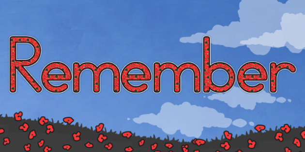 Remember Display Lettering (Australia) - displays, remembrance