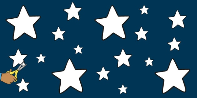 Star Display Cut Outs White - stars, displays, visual, poster