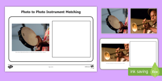 Workstation Pack: Photo to Photo Instrument Matching Activity
