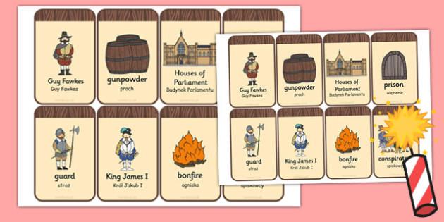 The Gunpowder Plot Flashcards Polish Translation - polish, gunpowder