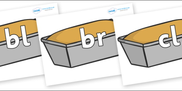Initial Letter Blends on Baked Loaves - Initial Letters, initial letter, letter blend, letter blends, consonant, consonants, digraph, trigraph, literacy, alphabet, letters, foundation stage literacy