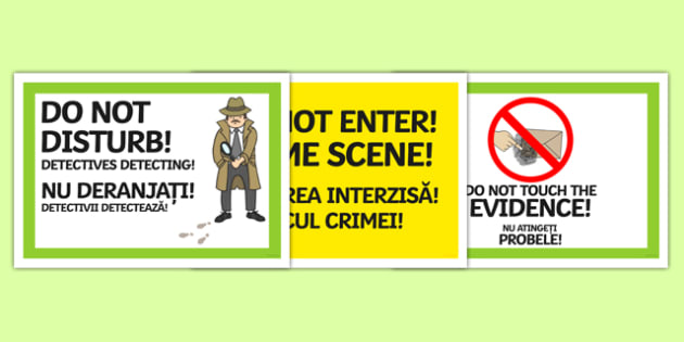 Detective Role Play Signs Romanian Translation