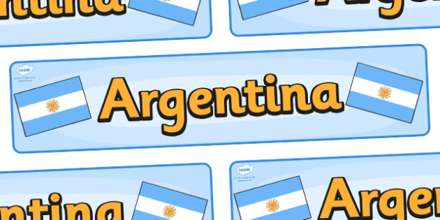 Argentina Display Banner - Argentina, Olympics, Olympic Games, sports, Olympic, London, 2012, display, banner, sign, poster, activity, Olympic torch, flag, countries, medal, Olympic Rings, mascots, flame, compete, events, tennis, athlete, swimming