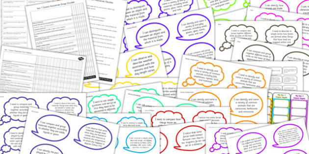 2014 Curriculum Year 4 Science Assessment Resource Pack - targets