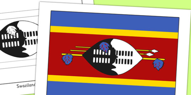 Swaziland Flag Display Poster - countries, geography, display