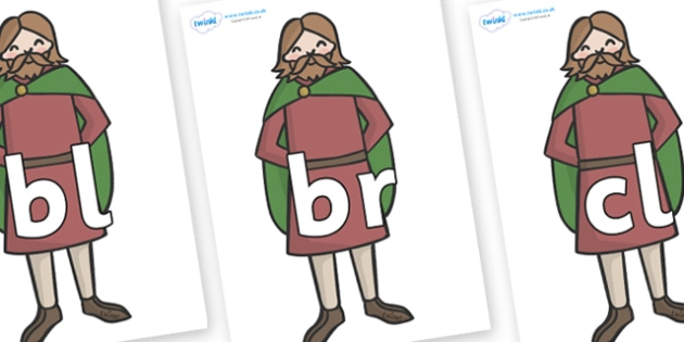 Initial Letter Blends on Britons - Initial Letters, initial letter, letter blend, letter blends, consonant, consonants, digraph, trigraph, literacy, alphabet, letters, foundation stage literacy