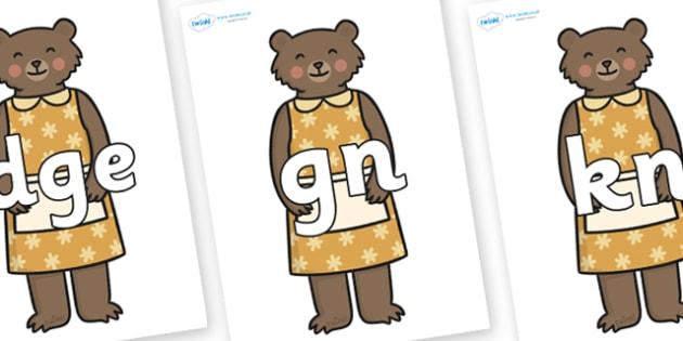 Silent Letters on Mummy Bear - Silent Letters, silent letter, letter blend, consonant, consonants, digraph, trigraph, A-Z letters, literacy, alphabet, letters, alternative sounds