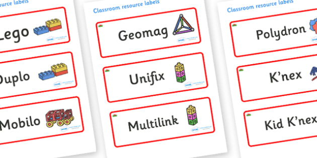 Wales Themed Editable Construction Area Resource Labels - Themed Construction resource labels, Label template, Resource Label, Name Labels, Editable Labels, Drawer Labels, KS1 Labels, Foundation Labels, Foundation Stage Labels