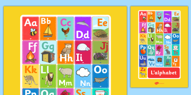 Alphabet Display A3 Poster French - french, alphabet, display, a3, posters, display posters, letters
