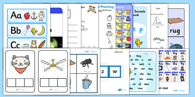 Teaching Assistant Alphabet and Phase 2 Phonics Resource Pack - phonics, pack