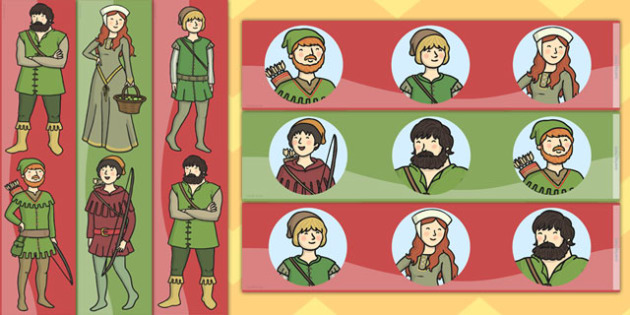 Robin Hood Display Borders - display, borders, robin, hood, merry