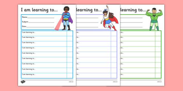 Superhero Themed Target and Achievement Sheets - superhero, target and achievement, target, achievement, sheets
