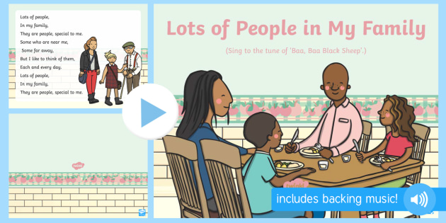 Lots of People in My Family Song PowerPoint