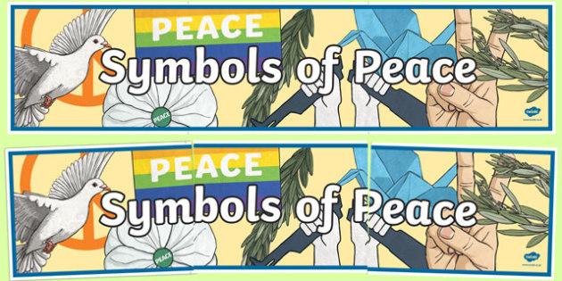 Symbols of Peace Display Banner-Irish