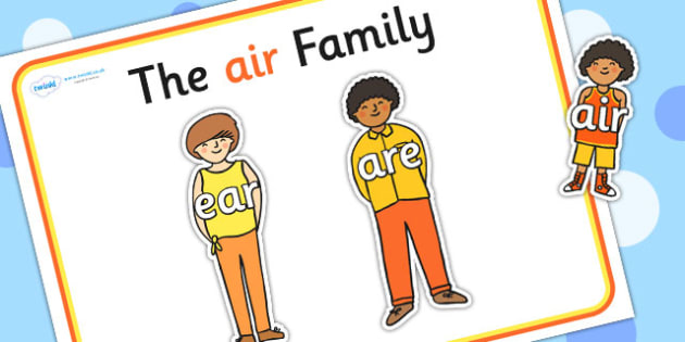 Air Sound Family Cut Outs - sound families, sounds, cutouts
