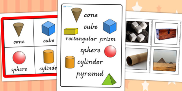 3D Shapes in the Environment Bingo and Lotto Game - shape, games