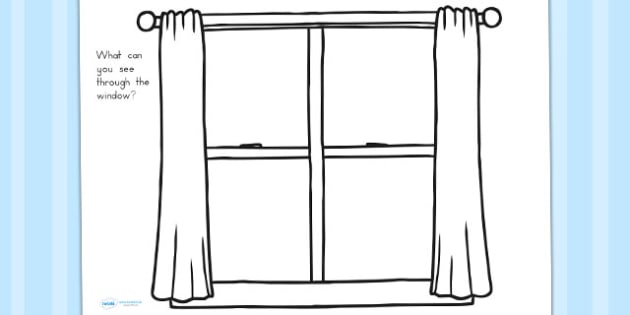 Window Frame Drawing Sheet - windows, worksheets, draw, sheets
