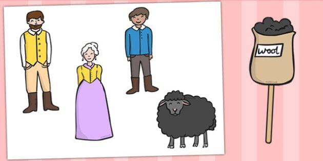 Baa Baa Black Sheep Stick Puppets - Baa Baa Black Sheep ...