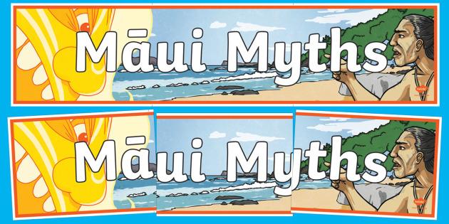 Maui Myths Display Banner