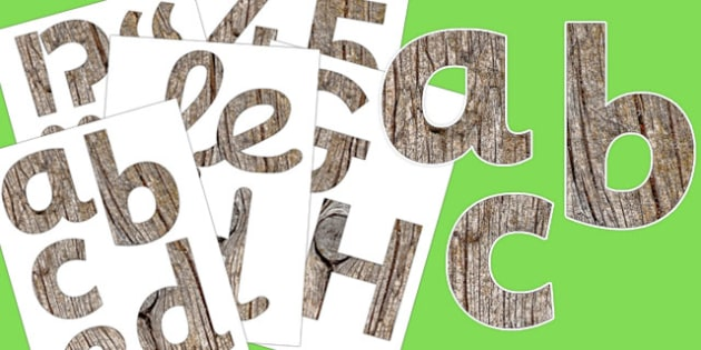 Wood Texture Display Letters and Numbers Pack - display, letters