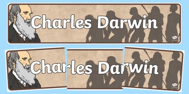 Charles Darwin Display Banner - display, banner, charles, darwin