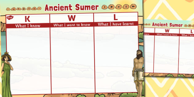 Ancient Sumer Topic KWL Grid - sumer, topic, kwl, grid, know