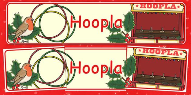Świąteczny banner Hoopla po polsku - kiermasz, gazetka, święta