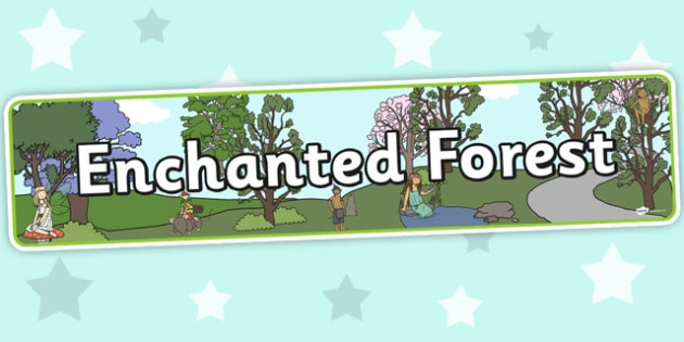 Enchanted Forest Display Banner - banners, displays, forests